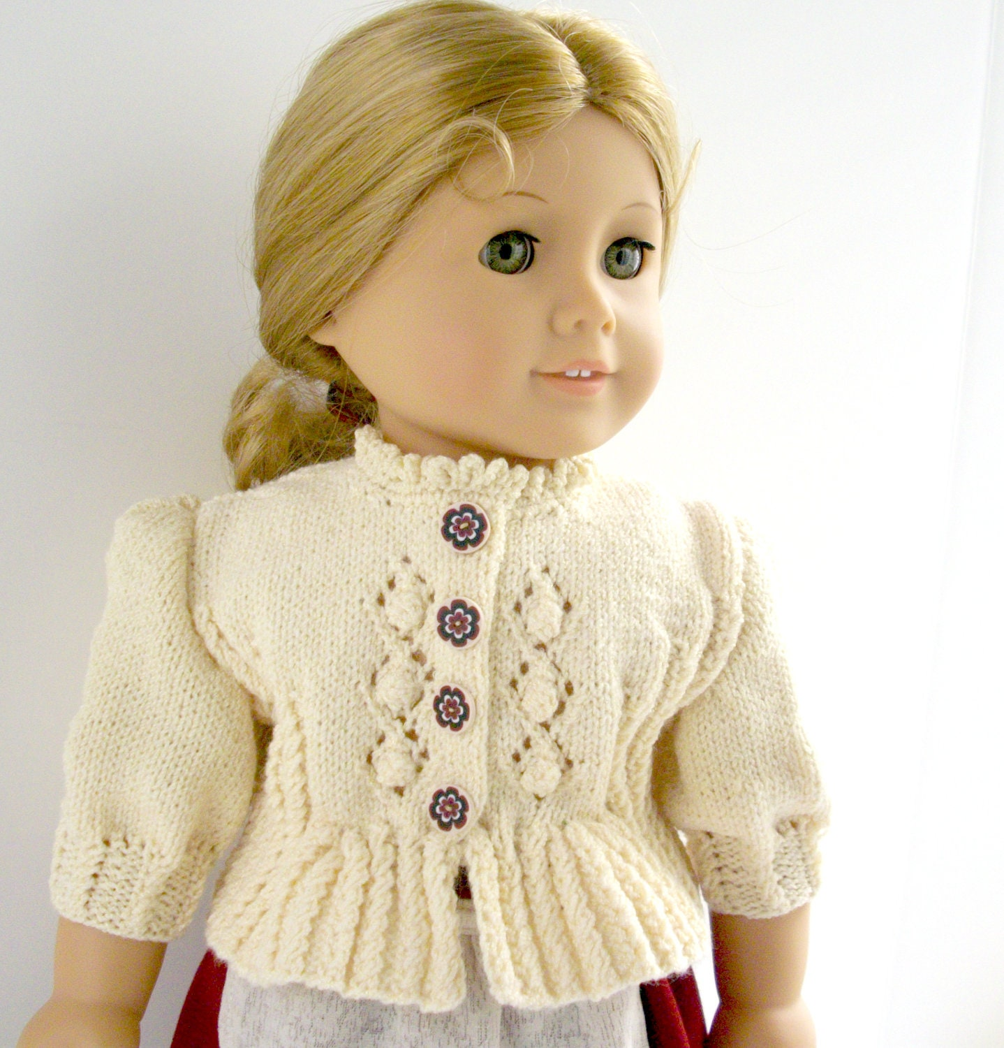 American Girl Doll 18 Gotz doll Knitting Pattern by LelleModa