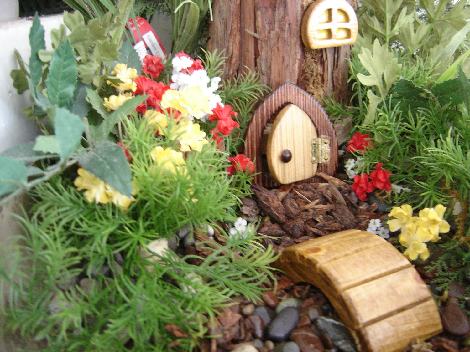 Items similar to fairy door gnome door hobbit door elf for Miniature fairy garden doors
