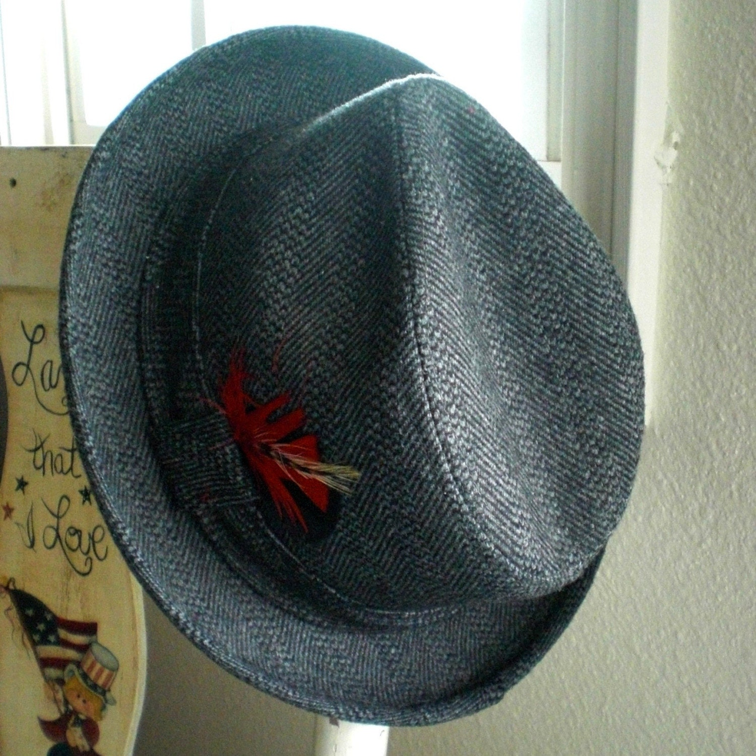 Vintage Mens Tweed Fedora