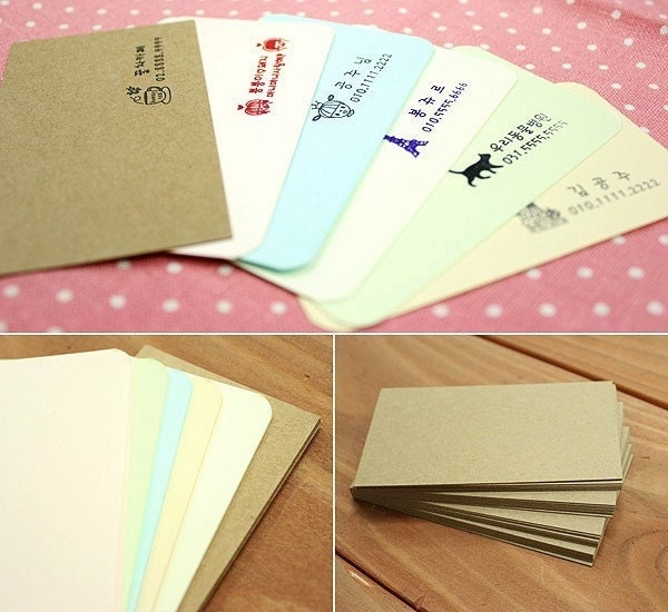 6 of Assorted Business Card - blank (30 sheet)