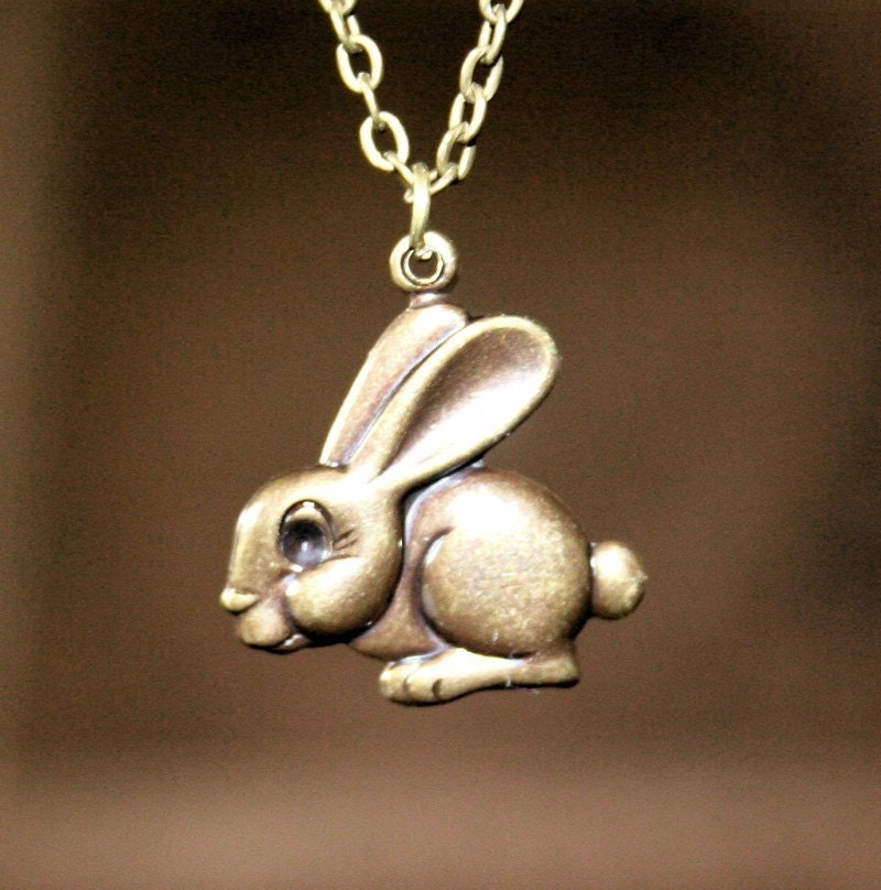 Bunny Rabbit Necklace by smilesophie on Etsy from etsy.com