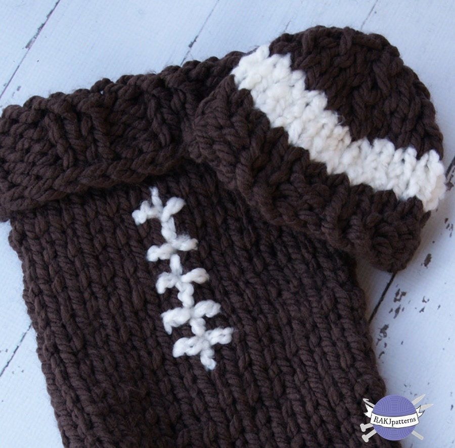 Knit Pattern Baby Football Hat : Unavailable Listing on Etsy
