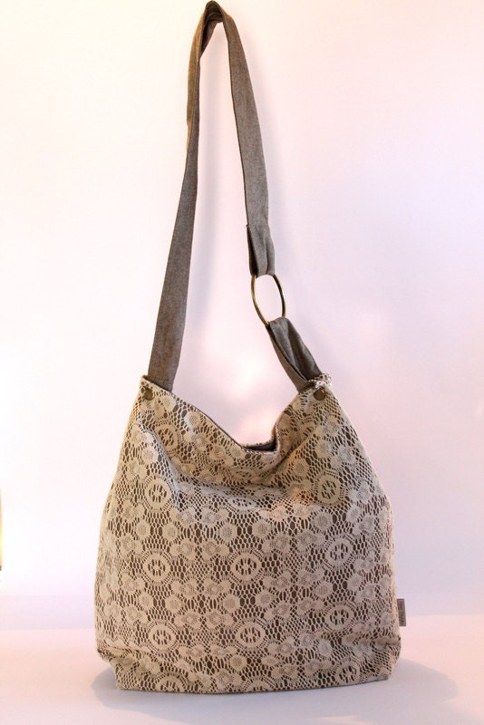 Crochet Boho Bag : Crochet Hobo Bag, Casual Big Bag, Boho Chic bag, Naturahl Cotton Bag ...