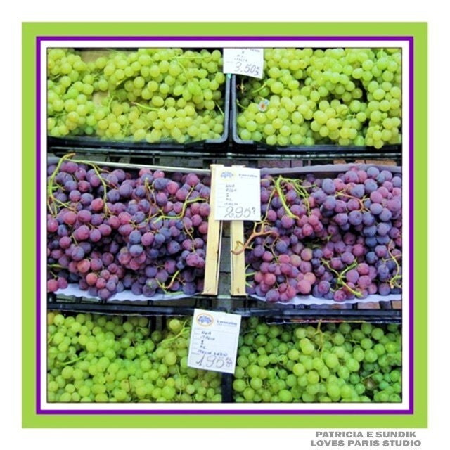 Grapes Photo, Italian Market, Siena, Italy. 10 x 10, Fine Art  Food Photograph