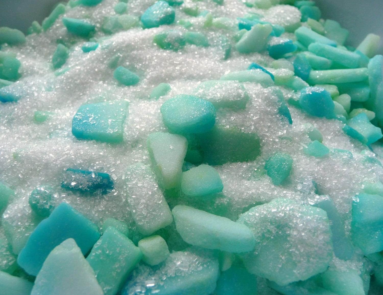 Turquoise sea glass bath salts spa soak by tundraandtaiga for Salon turquoise