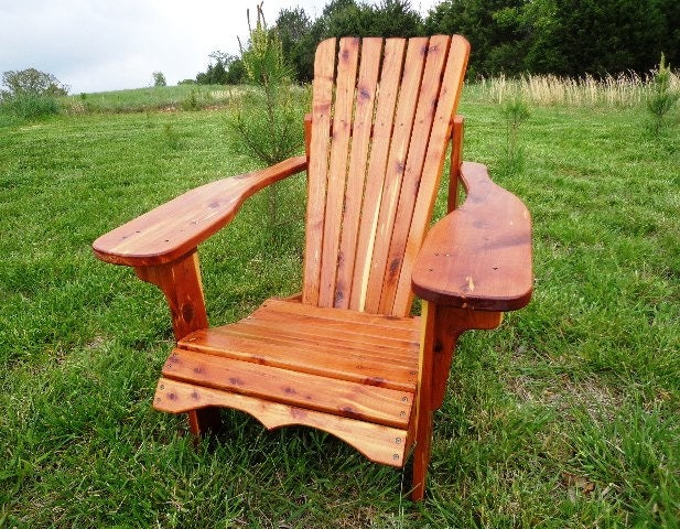 Rustic Cedar Adirondack Chair Hand Crafted Muskoka Style Solidly Built