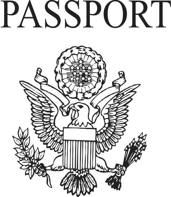 Pretend Passport Rubber Stamps For Travel And By