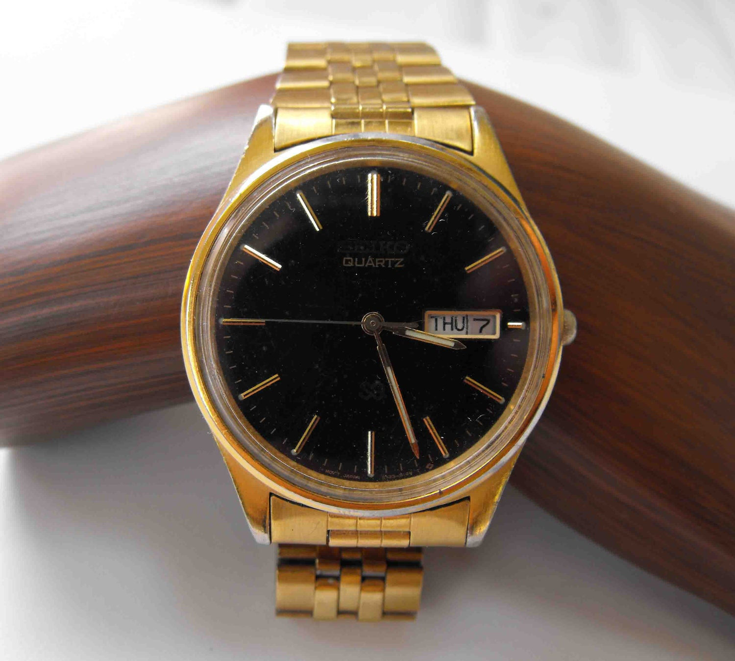 Vintage Watch Men S Seiko Battery Gold Plated By Nonnie60