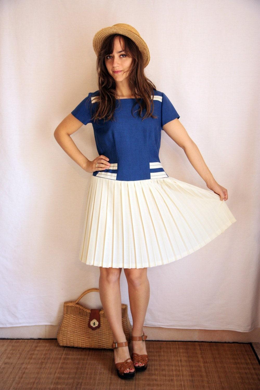 50's nautical dress