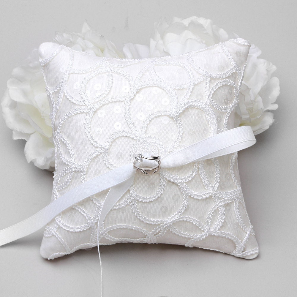 Ring Pillow Lace Ring Pillow Wedding Ring Bearer By WoomeeBridal