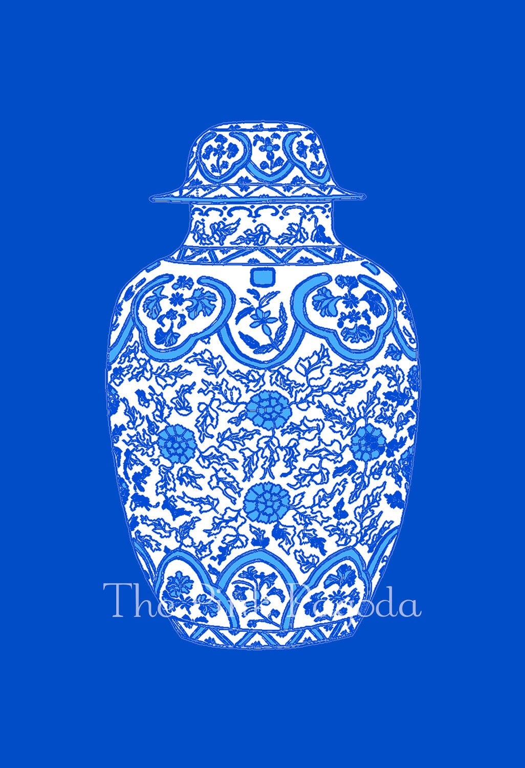 New Series Blue Ginger Jar 13x19 Giclee