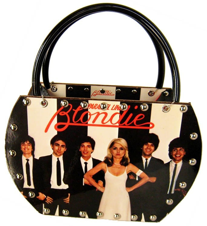 80s Party Purse - Blondie Parallel Lines 1978 Record Album Handbag