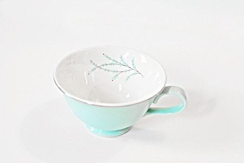 Tiffany blue tea cup set - SarahsNickNacks