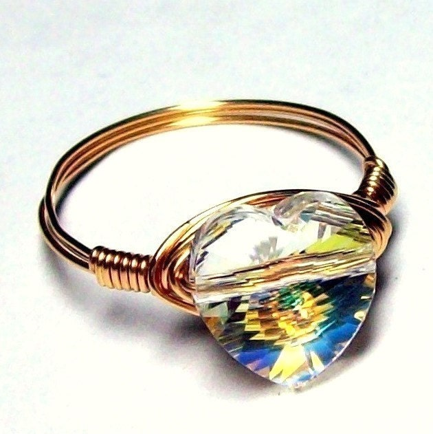 Swarovski Crystal Heart by bluembrownlee at etsy