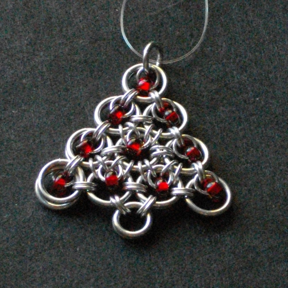 Holiday Ornament - A Tree For Your Tree Holiday Ornament In Red SALE SALE SALE