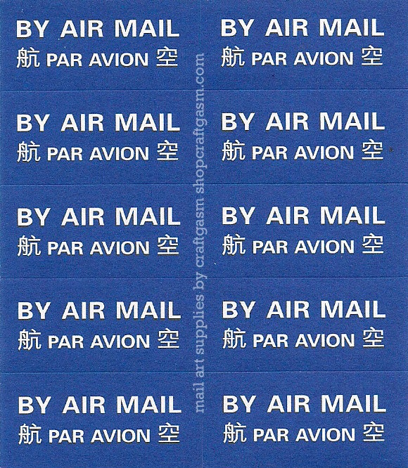 Chinese Air Mail Stickers Set Of 20 By Craftgasm On Etsy