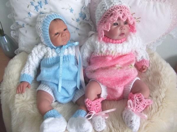 """الگوی بافندگی به مدت 16 """"-- 22"""" عروسک تولد تازه یافته"""
