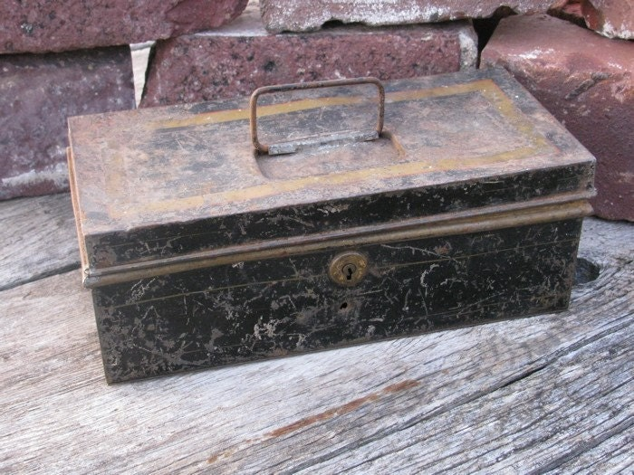 Vintage Metal Document Box