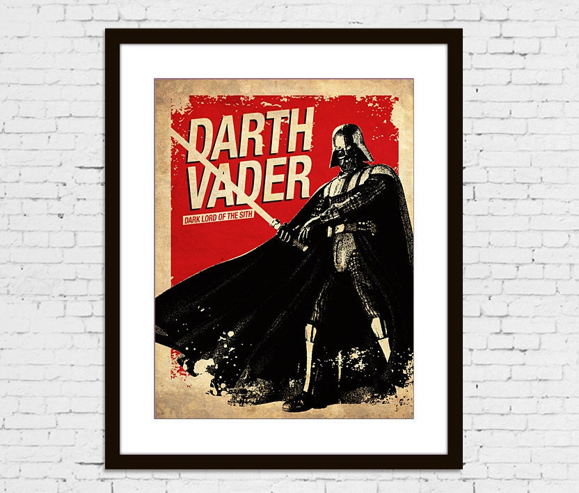 Star Wars Darth Vader Vintage Silhouette Poster By