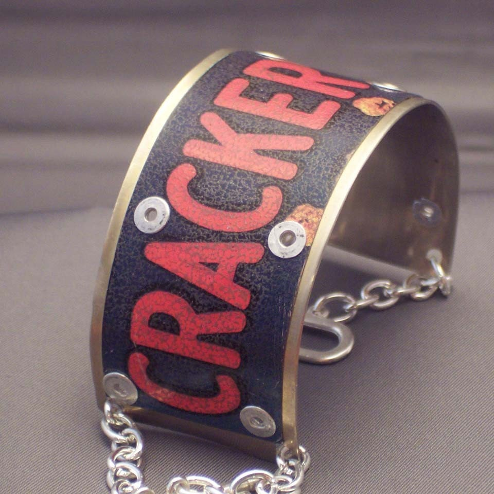CRACKER JACK Metal Cuff Bracelet