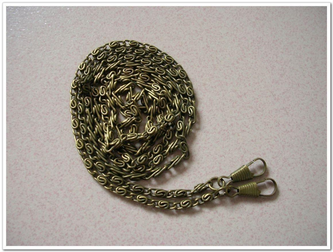 5 x 120cm contra de bronce del monedero de la cadena / del monedero haciendo hardware / bolso que hace fuentes