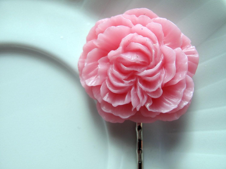 Peony Hair Pin- Pink