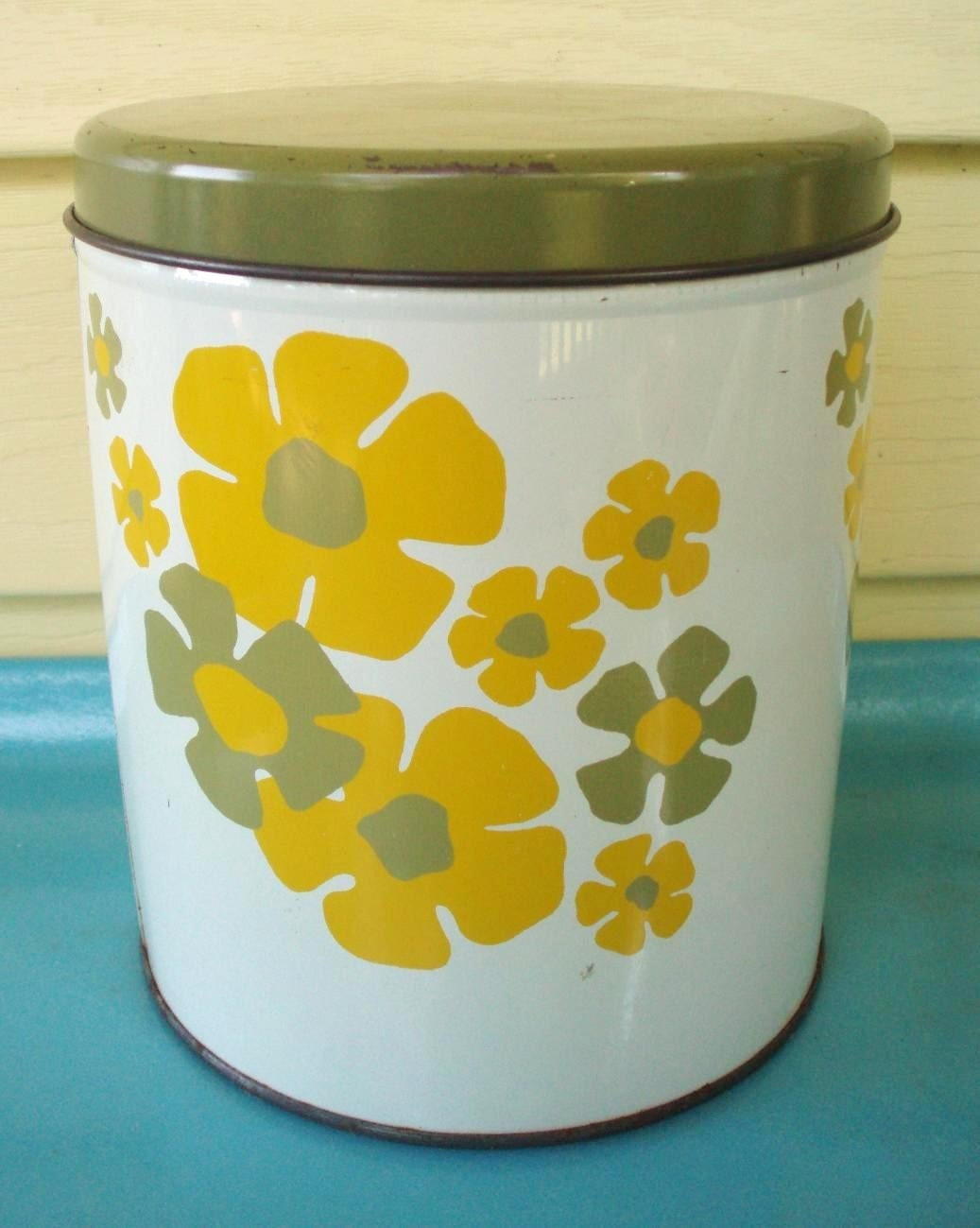 cute canister perfect for kitchen or studio! I love to stash receipts in these!