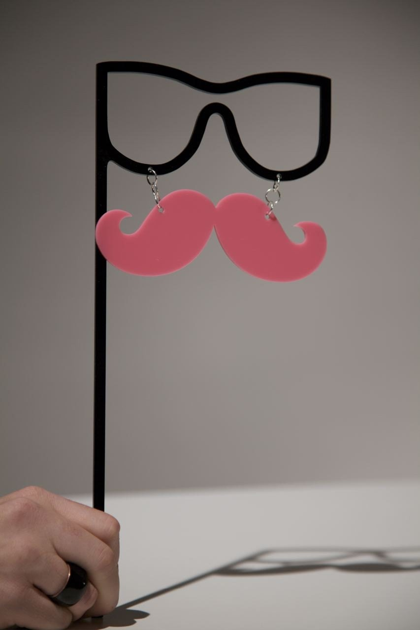 The Hot Pink Mustache Masquerade
