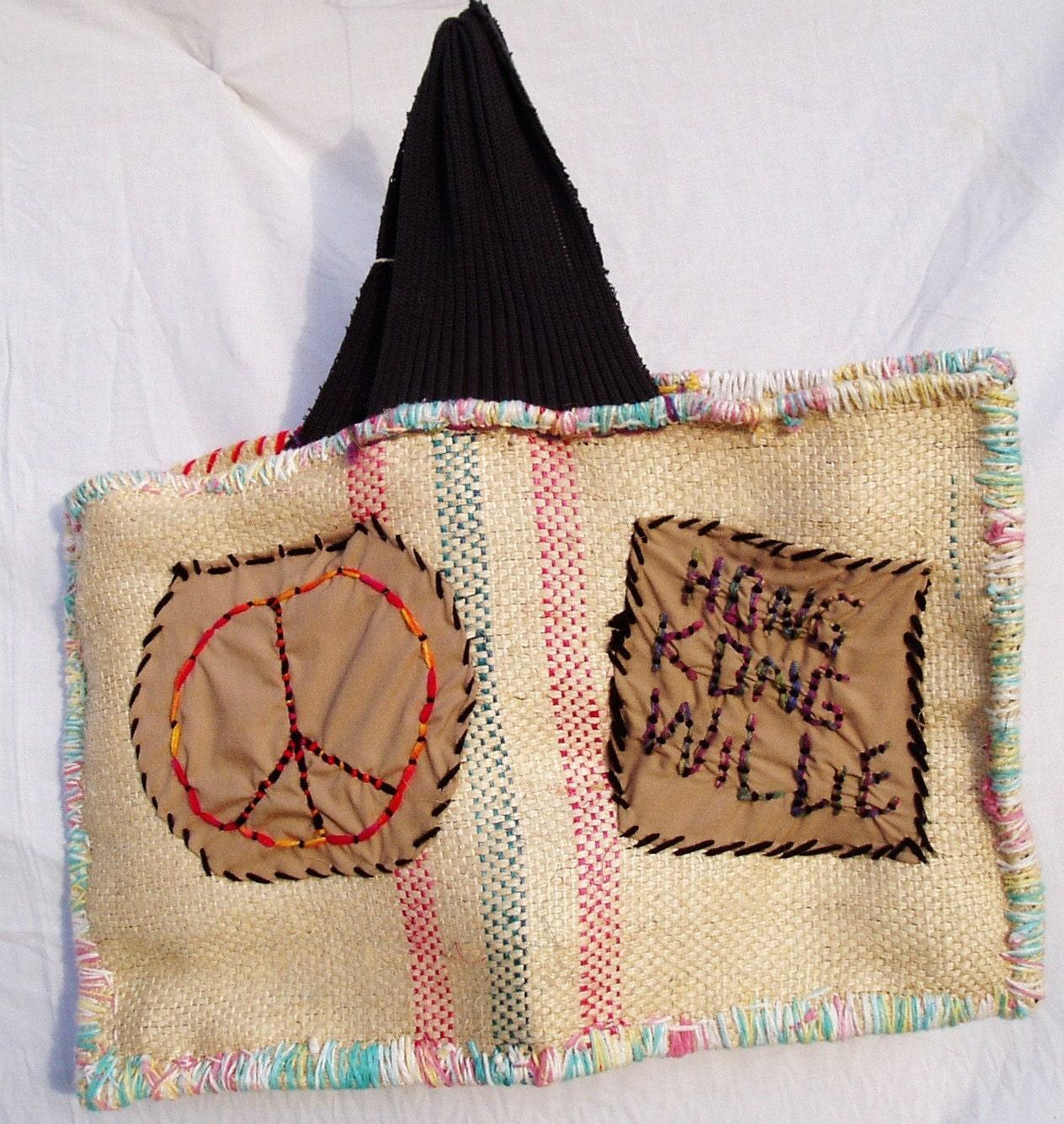 Hippie Purse - Hong Kong Willie Peace Bag - FREE SHIPPING