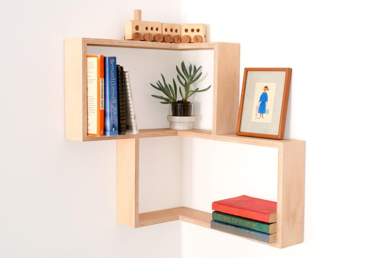 Corner shelf display cabinet book vintage mid century by senkki - Contemporary corner shelves ...