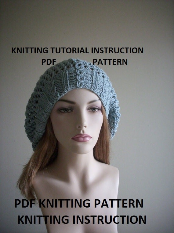 Oversized Beret Knitting Pattern : Unavailable Listing on Etsy