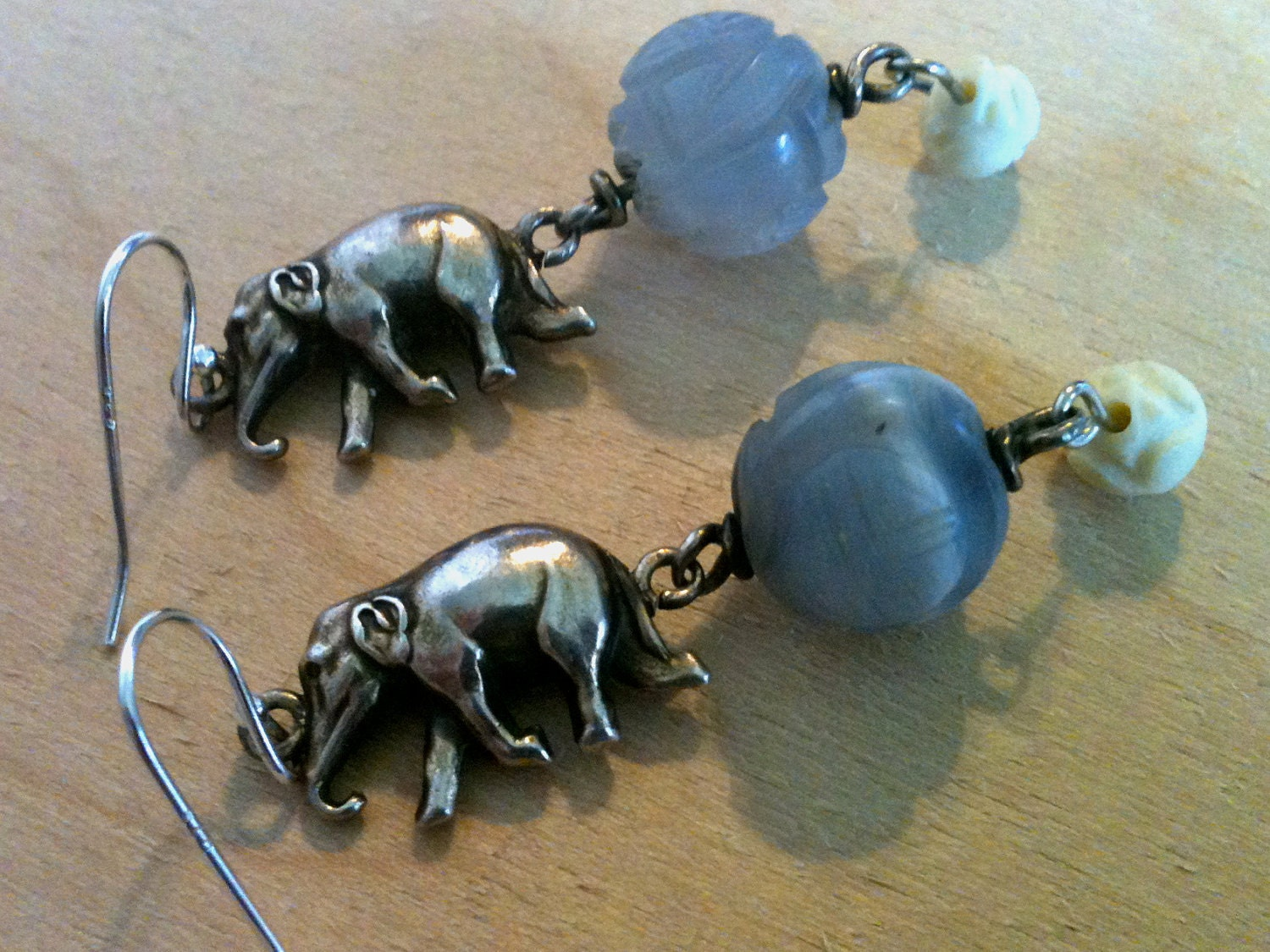 Sterling Silver Elephant Earrings - MothersOnTheMountain