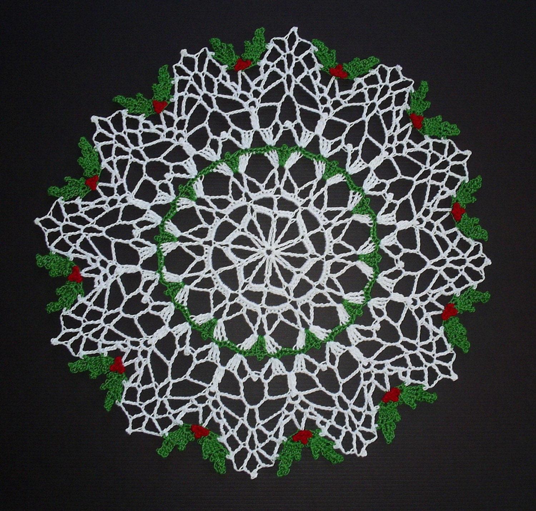 Free Crochet Pattern Christmas Doily : CHRISTMAS CROCHET DOILIES PATTERNS Crochet Patterns
