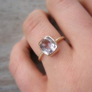 Ballerina Ring, 14k Gold and Morganite , Made to Order in Your Size