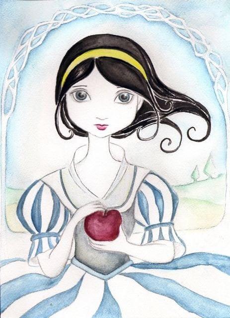Snow White with Poison Apple Print 8x10