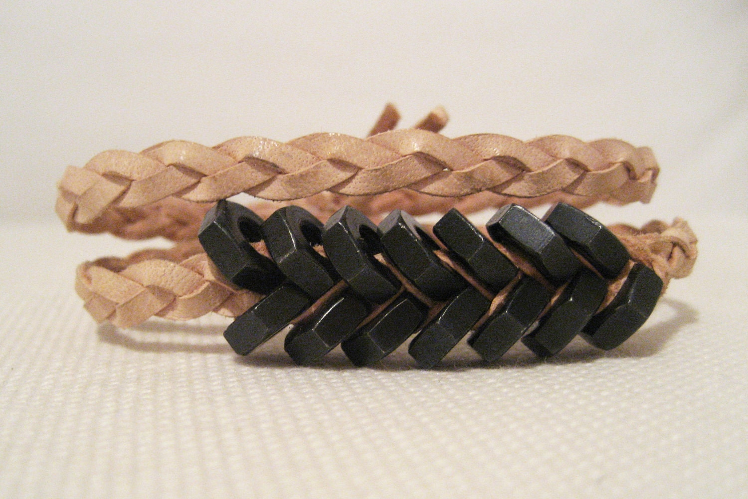 Double wrap Fishbone (Black/Pale Rose)