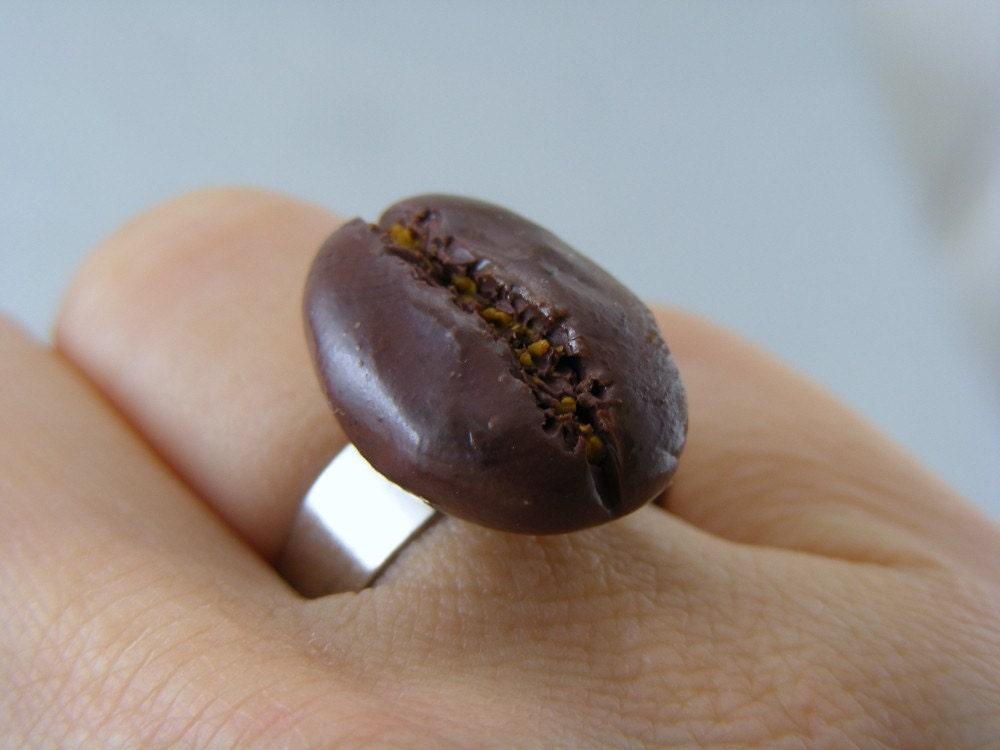 Кольцо Coffee Bean