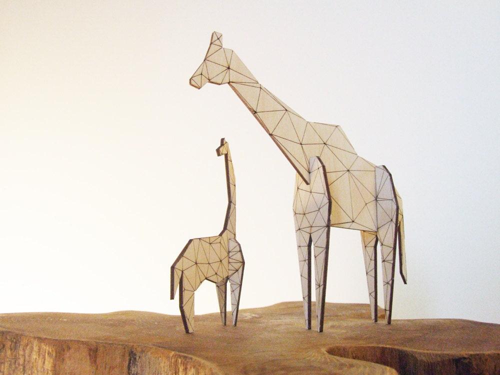 Origami Giraffe - original - AsymmetreeDesign