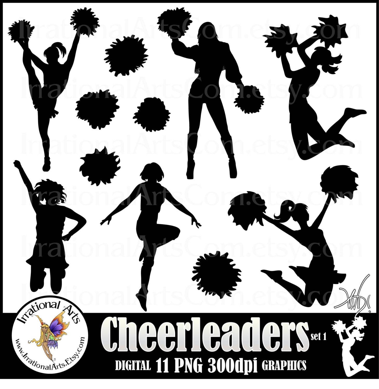 ... 11 png INSTANT DOWNLOAD digital graphics cheerleaders clipart graphics