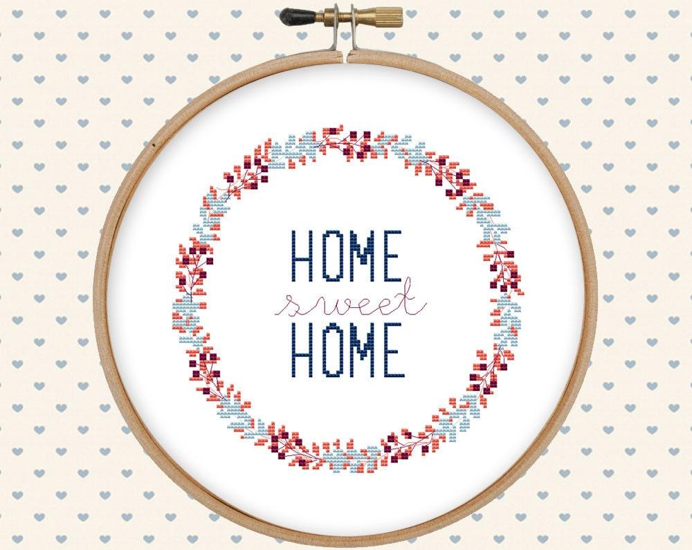Home вышивка крестом 87