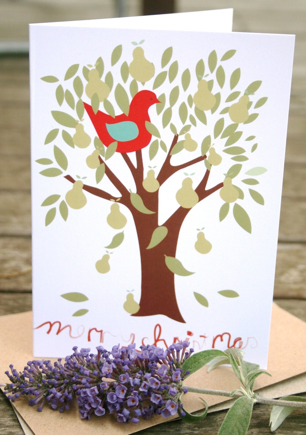 Partridge in a Pear Tree - Christmas Card