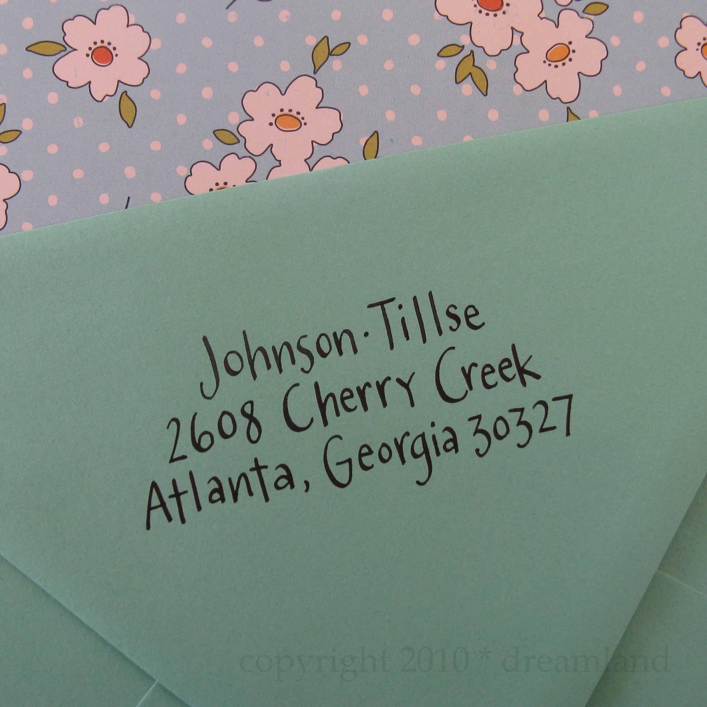 Wedding Sunshine Address Stamp (Red Rubber)