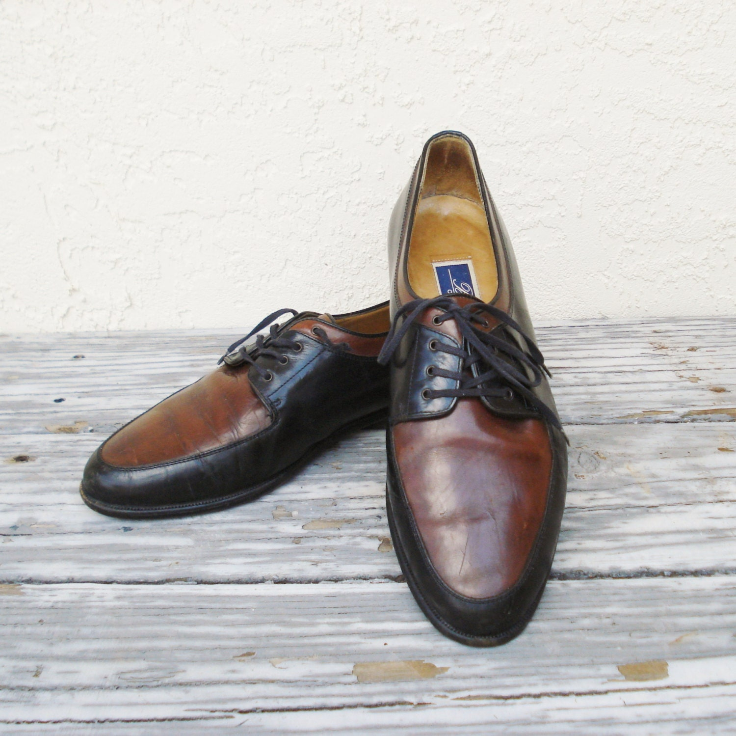 Mens Cole Haan Shoes / Vintage Brown and Black Bragano by Cole Haan
