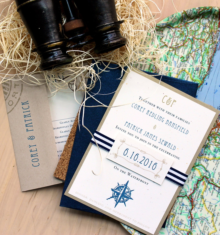 Beach Wedding Invitations Destination Wedding By BeaconLane