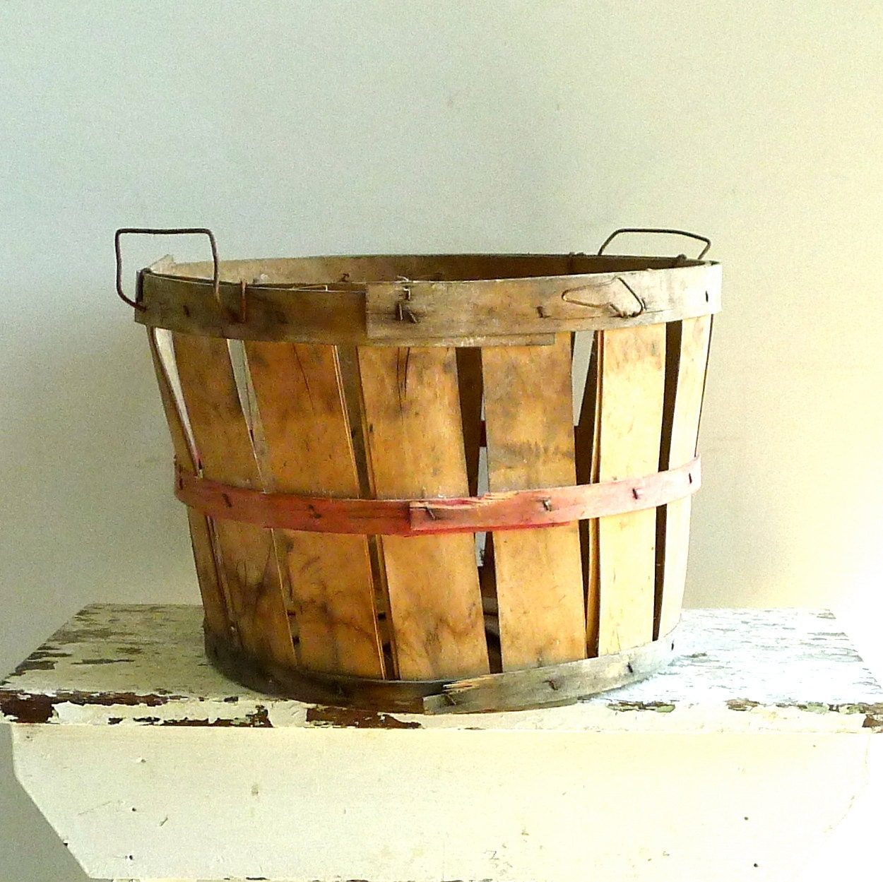 Vintage Wood Orchard Basket