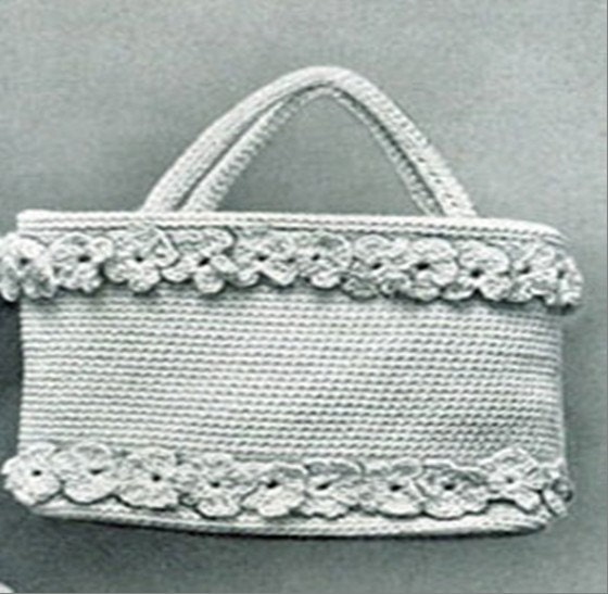 Hand Purse Patterns : Vintage Hand Bag Crochet PDF Pattern by DesignsbyDEWaltz on Etsy
