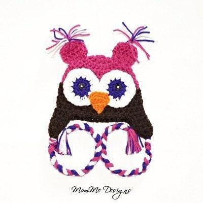 Owl baby hat beanie