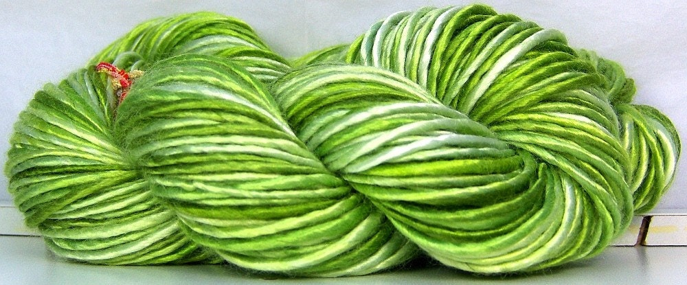 Bamboo HandSpun YARN - Lettuce Be Green - CUSTOM SPIN TO ORDER