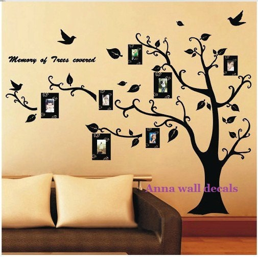 lucky tree78 family tree wall decalswall decals by annaandnana. Black Bedroom Furniture Sets. Home Design Ideas