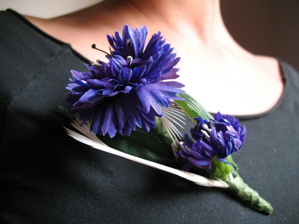 On your  heart..Cornflower is magic